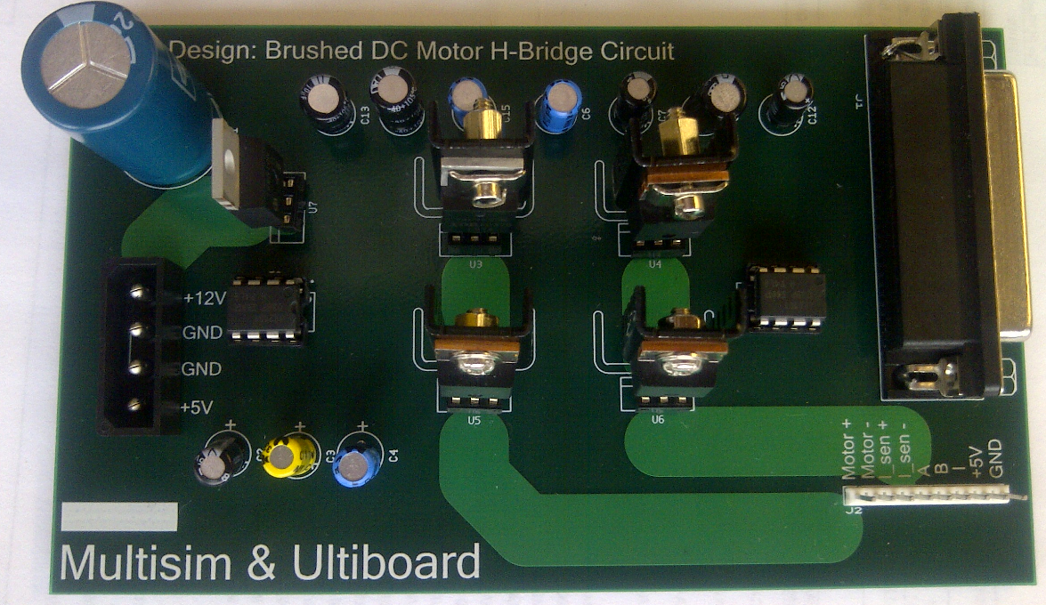 Design Example Brushed Dc Motor H Bridge Control Pcb Using Ni Electronic Circuit Simulation Http Zonenicom Cms Images Devzone