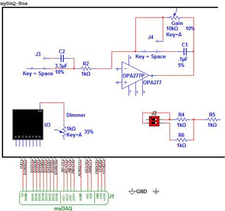 绘制与mydaq兼容的pcb电路的原理图输入器:使用11