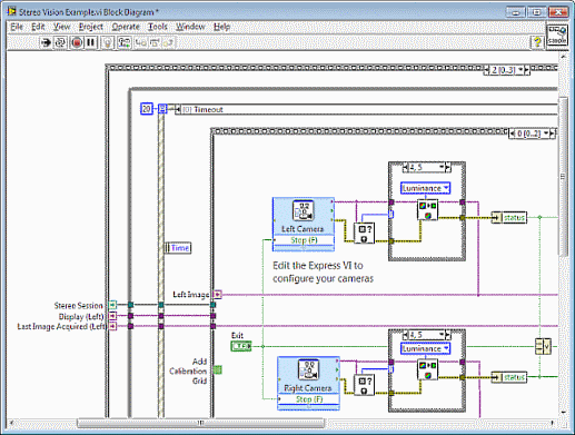 using the stereo vision example ni vision 2017 for labview help